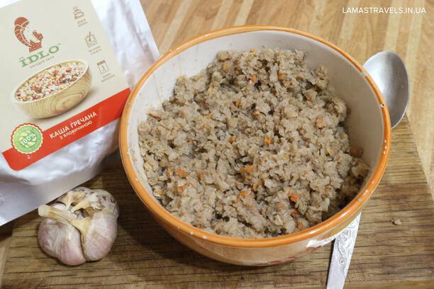 Сушеная еда Їдло в Украине, гречка с говядиной