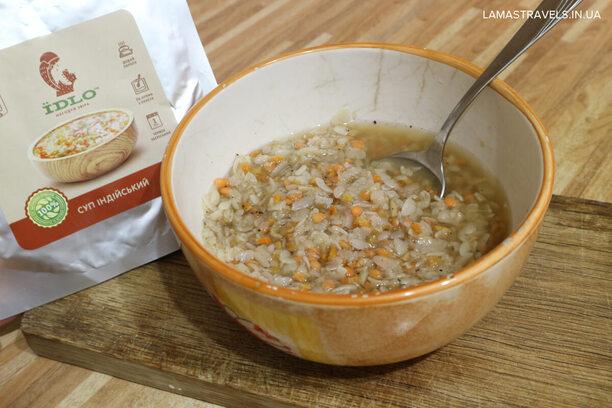Сушеная еда Їдло в Украине, индийский суп