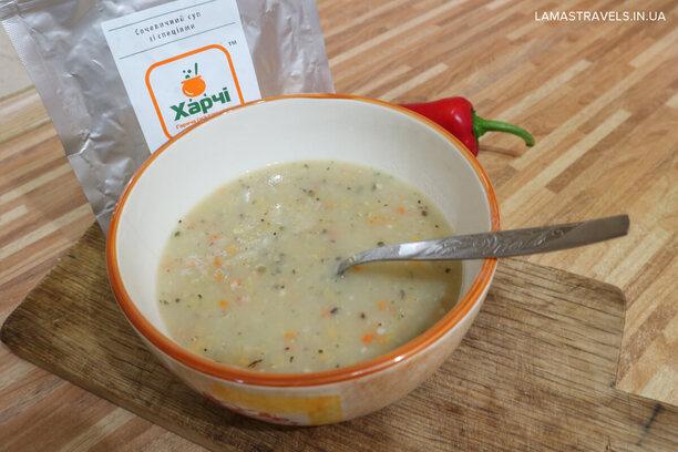 Сушеная еда Харчі в Украине, суп из чечевицы
